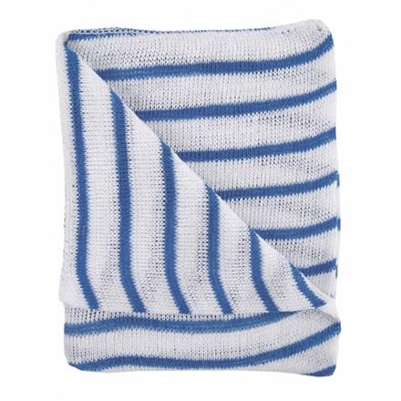 Dishcloths, Stockinette, Large, (Blue Stripe) 10 Cloths