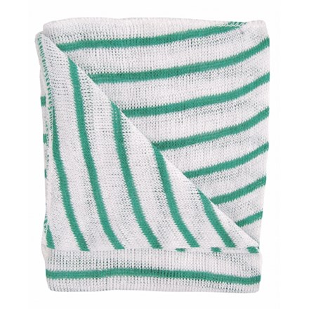 Dishcloths, Stockinette, Reg, (Green Stripe), 10 Cloths