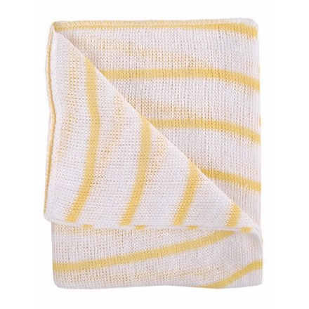 Dishcloths, Stockinette, Reg, (Yellow Stripe), 10 Cloths