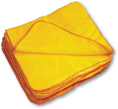 Dusters, Yellow, 50cm x 40cm, 100% Cotton, 10 Dusters