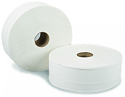 "Toilet Rolls, Midi Jumbo, Value, 2.25""/60mm Core, 200m, 12 Rolls"