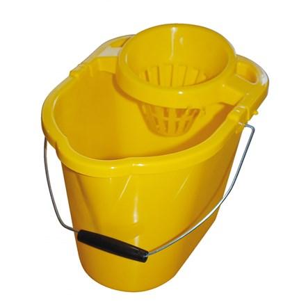 Bucket, Mop, Plastic, Value, 12Ltr, Yellow