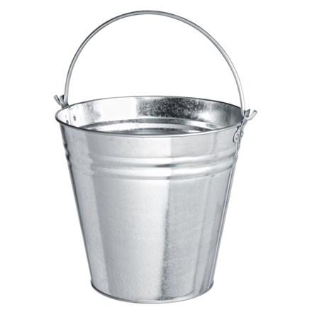 Bucket, Galvanised Metal Pail, 12Ltr