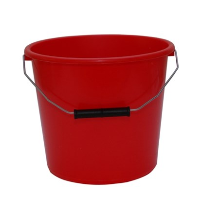 Bucket, All Purpose, Plastic, Red, 14Ltr