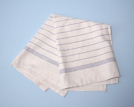 Towel, Tea, Cotton, Blue Stripe, 10 Towels