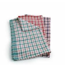 Towel, Tea, Cotton, Coloured Check, 10 Towels