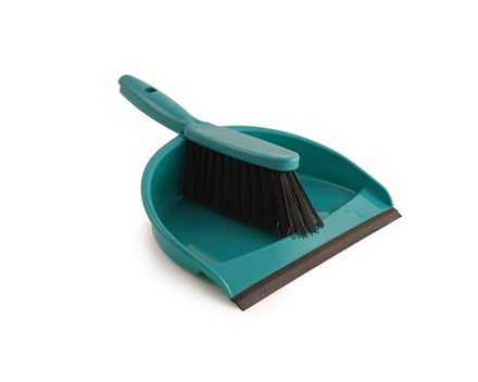 Dust Pan & Brush Set, Soft, Green