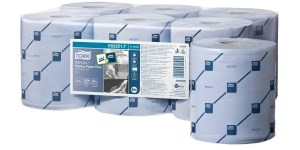 Handwipes, Tork, Reflex, 2 Ply Blue, 429 Sheet 6 Rolls
