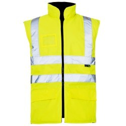 Safety Wear, Hi Vis. Body-Warmer, Double Band & Braces