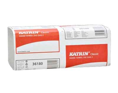 Handtowels, Z-Fold, Katrin, 2Ply White, 3000 Sheet