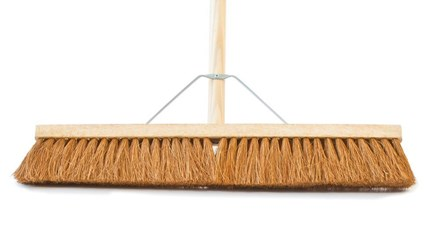 """Brush, Yard, 24"""", complete with shaft & stay"""