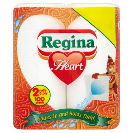 Kitchen Towel, Regina, 2Ply White, 20 Rolls