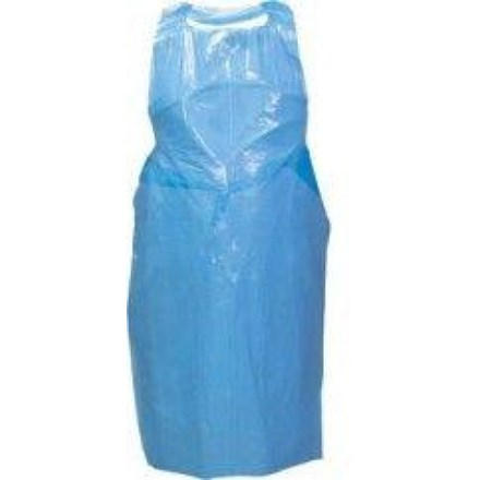 Aprons, Polythene, Disposable, Roll, Blue, 1000 Aprons