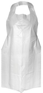 Aprons, Polythene, Disposable, Roll, White, 1000 Aprons