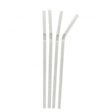 """Bar Supp. Straws, Clear, Bendy, 6mm, 20cm/8"""", 250"""