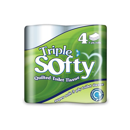 Toilet Rolls, Triple Softy, 3Ply White, 40 Rolls