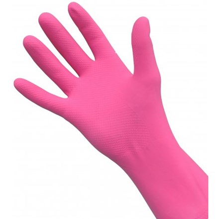Gloves, Rubber, Premier, Pink, 12 Pairs