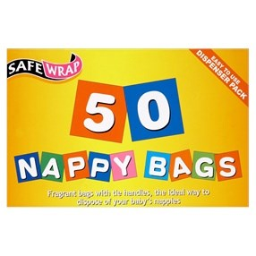 Babycare, Nappy Bags, Safewrap, 6 x 50