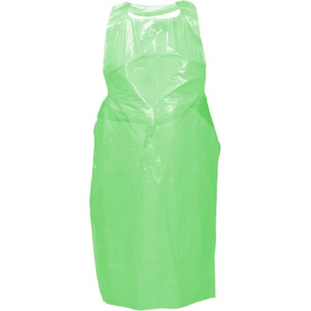 Aprons, Premium Polythene, Disposable, Roll, Green, 1000