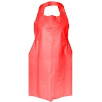 Aprons, Premium Polythene, Disposable, Roll, Red, 1000