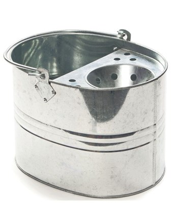 Bucket, Galvanised Mop Bucket, 11 Ltr