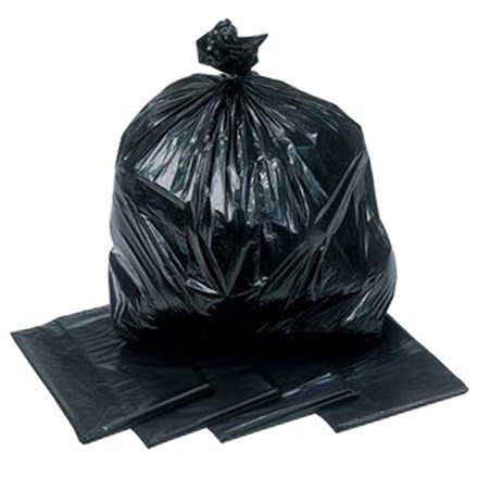 "Refuse Sacks, Black, HD, 150g, 18x29x38"", 200 Bags"