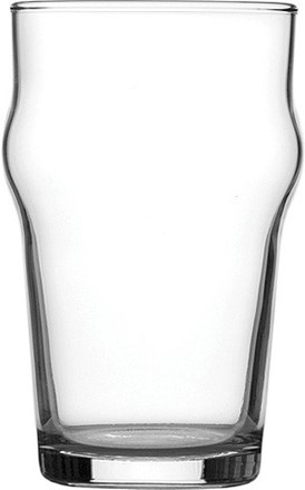 Glassware, Nonic, Pint, 23oz Nucleated, LGS, Case 48