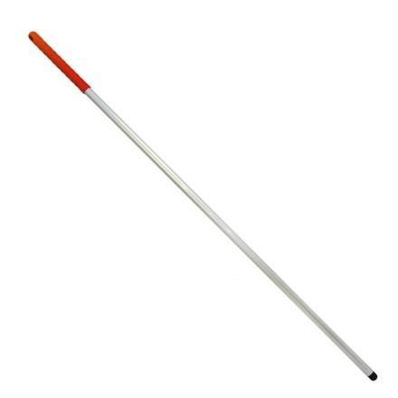 Handle, Aluminium, Red Grip/Thread, 1360 x 25 x 1.2mm