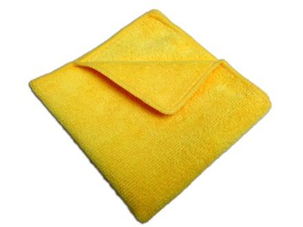 Cloths, Microfibre, 40 x 40 cm, Yellow, Pk 10