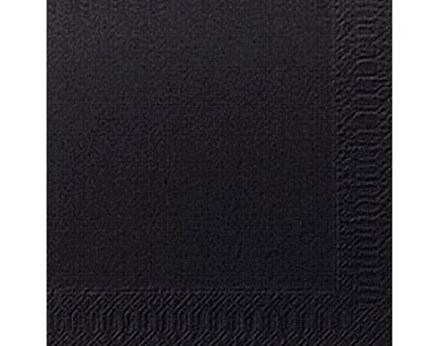 Napkins, Dunilin, 40cm, Black, 600