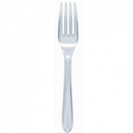 Catering, Cutlery, Plastic, Forks, Clear, 1000