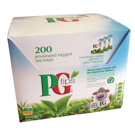 Hospitality, Tea Bags, PG, Individually Wrapped x 200