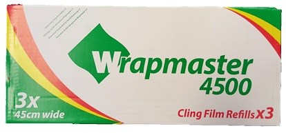"Catering, Cling Film, WrapMaster, 450mm x 300m (18"") 3 Rolls"