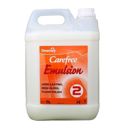 Floor Polish, Carefree Emulsion, 5Ltr