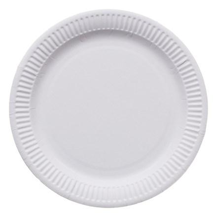 """Catering, Plates, 6"""", Paper, White, 100"""