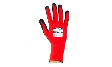 Gloves, Flex Plus, Nylon, Sandy Nitrile Coated, Red, 120 Pairs Per Case