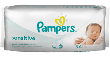 Babycare, Pampers Sensitive Wipes, 1x 56