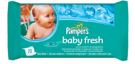 Babycare, Pampers Baby Fresh, 1 x 72
