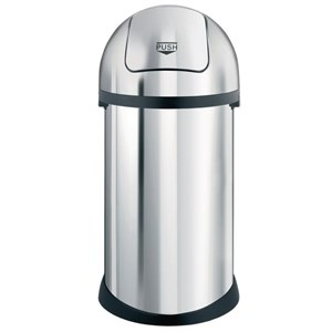 Bin, 50Ltr Push Bin, S/Steel, 850 x 350mm