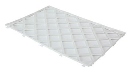 "Glass Mat, 12"" x 8"", White, 10 Pack"