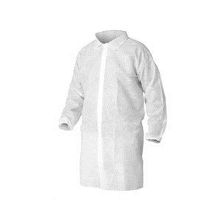 Visitors Coat, Non-Woven, Disposable, L, 100