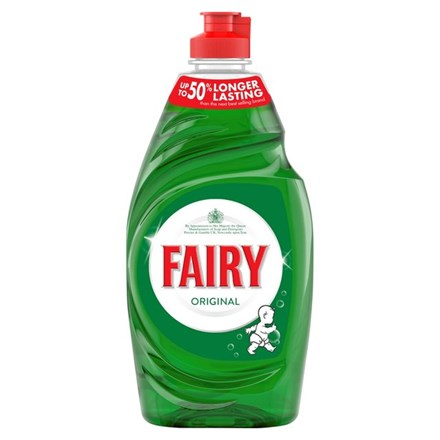 Washing Up Liquid, Fairy, Mild Green, 433ml