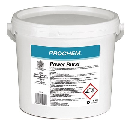 Carpet, Prochem, Detergent Pre-Spray, Power Burst, 4Kg