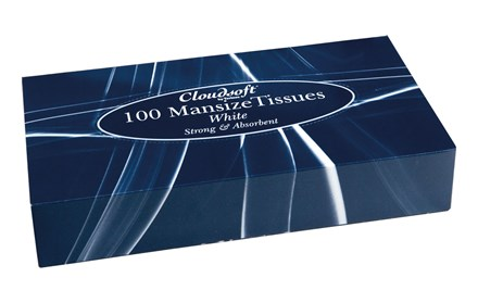 Tissues, Cloudsoft, Mansize, White, 2Ply, 24 x 100