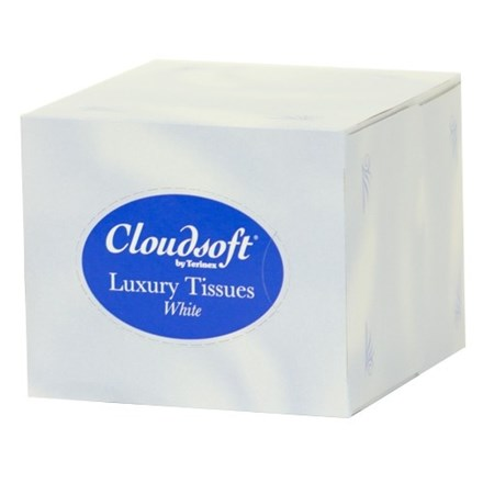 Tissues, Cloudsoft, Cube, White, 2Ply, 24 x 70