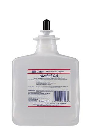 Skin Care, DEB Cutan Gel Hand Sanitiser, 6 x 1Ltr