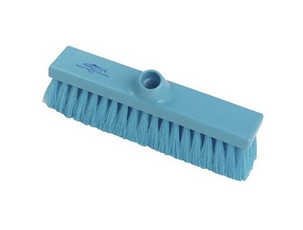 Brush, Hygiene, Sweeping Broom, Med Crimped, Blue, 280mm