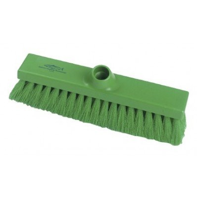 Brush, Hygiene, Sweeping Broom, Med Crimped, Green, 280mm