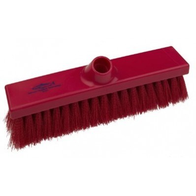 Brush, Hygiene, Sweeping Broom, Med Crimped, Red, 280mm