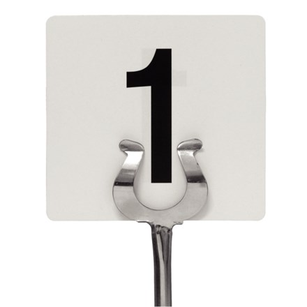 Tableware, Table Numbers, 1-25